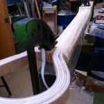 After two hours with the rasp, the neck gets into shape.