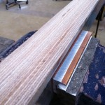 The lines of thy plywood really help in getting a regular shape. It's like painting with a rasp.
