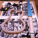 Getting ready to assemble the neck and the body
