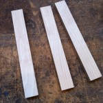 Three pieces of plywood 300mm x 45mm x 21mm