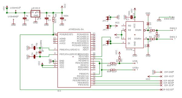 udmx schematic